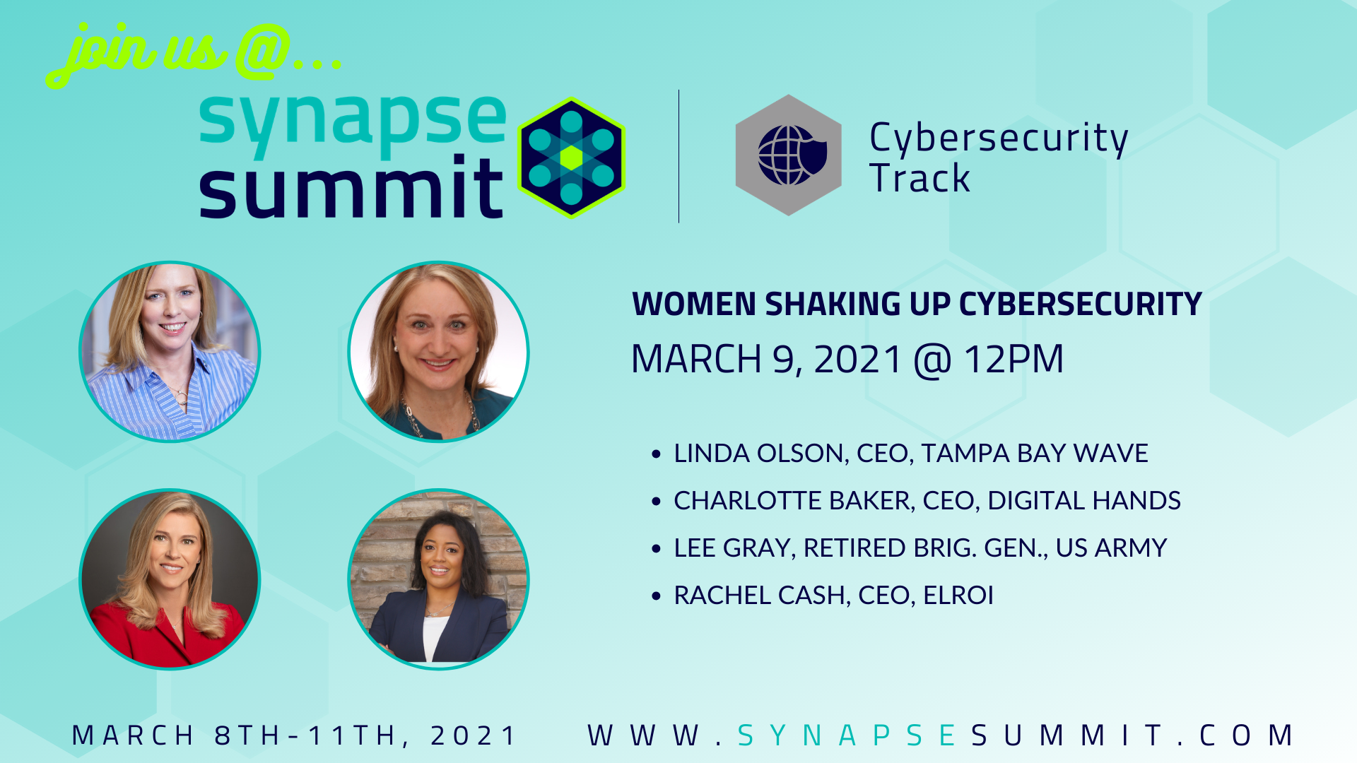 Women Shaking Up Cybersecurity - Wave - Synapse Summit 2021
