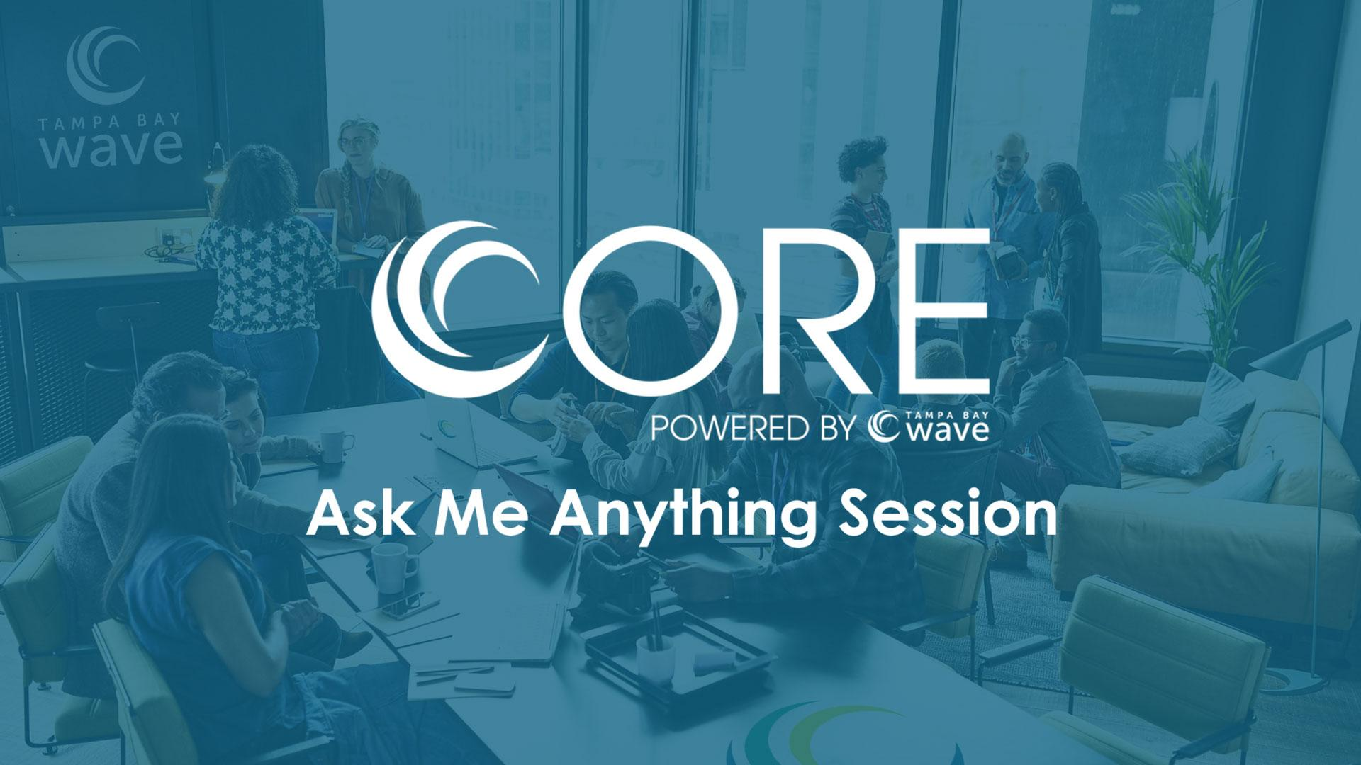 """Tampa Bay Wave CORE Program """"Ask Me Anything"""" Session"""